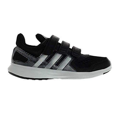 Adidas Hyperfast 2.0 CF K Velcro Indoor shoes for children running shoes schwarz / silber / white