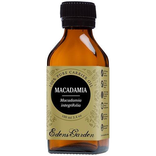 Macadamia 100% Pure Carrier/ Base Oil- 3.4 oz (100 ml) by Edens Garden