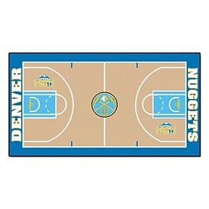 FANMATS NBA Denver Nuggets Nylon Face NBA Court Runner-Large by Fanmats