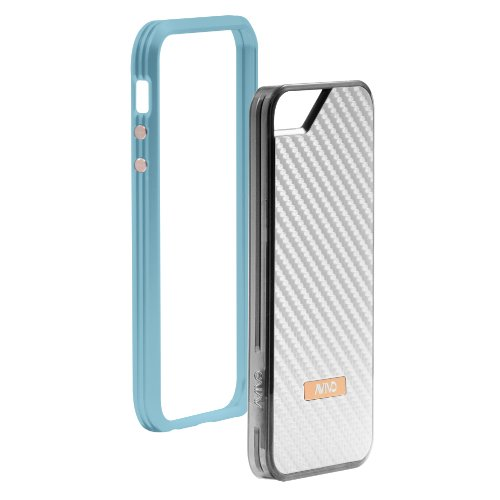Great Price Avivo Rail Carbonate / Apple iPhone 5 & 5S Polycarbonate Rail Visor Case (Turquoise + White Carbon Jacket)