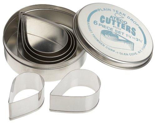 Ateco 6 Piece Plain Tear Drop Cutter Set (Ateco 6 Cutters compare prices)