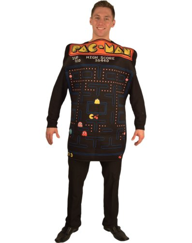 Incogneato Unisex Pac-Man Video Game Screen Poncho Adult Costume