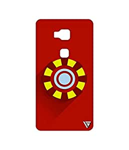 Vogueshell Iron Man Logo Printed Symmetry PRO Series Hard Back Case for Huawei Honor 5X