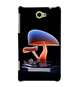 printtech Water Mushroom Back Case Cover for HTC Windows Phone 8S