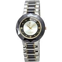 [ジョンハリソン]J.Harison 腕時計 4Pダイヤモンド セラミック素材 シルバー文字盤 CCM-001BS メンズ