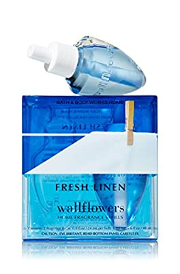 Bath & Body Works Wallflowers Home Fragrance Refill Bulbs 2 Pack Fresh Linen
