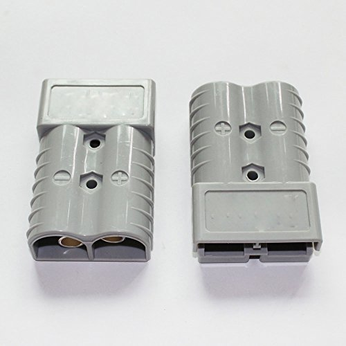 Read About X-Haibei Pair Battery Quick Connector Kit 350A 2/0 AWG Plug Connect Disconnect Gray 4.2x...