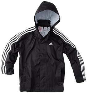adidas 3S Veste de pluie enfant Noir FR : 16 ans (Taille Fabricant : 176)