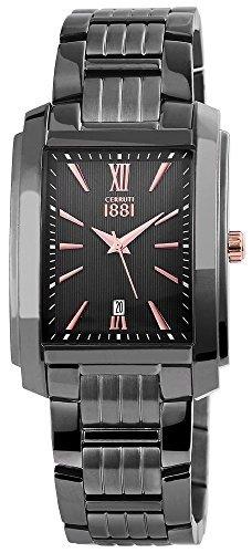 Colour gris oscuro para hombre relojes Cerruti CRB040D221C