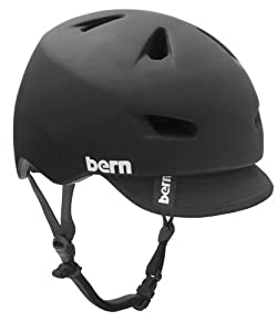 Bern Brentwood Summer Matte Helmet with Visor, Matte Black, Large