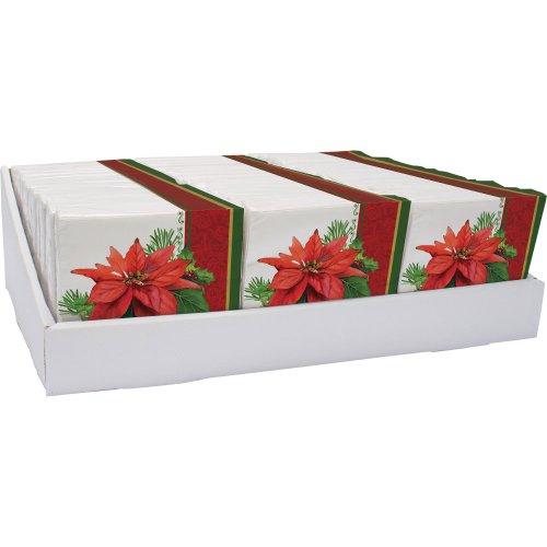 Holiday Poinsettia Luncheon Napkins - 1