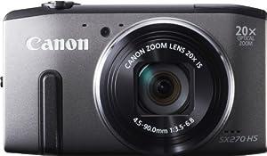 Canon PowerShot SX270 HS Appareil photo numérique compact 12,1 Mpix Zoom optique 20x Gris