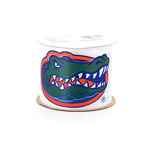 "Offray College Sports Florida Gators (#1) Ribbon, 2-1/2"" X 3 Yds + One Yd Custom Print"