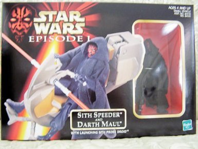 Star Wars Darth Maul Sith Speeder With Action Figure by Hasbro