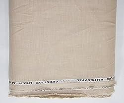 CLUB BURGOYNE Men's 100% Linen Shirt Fabric (Brown)