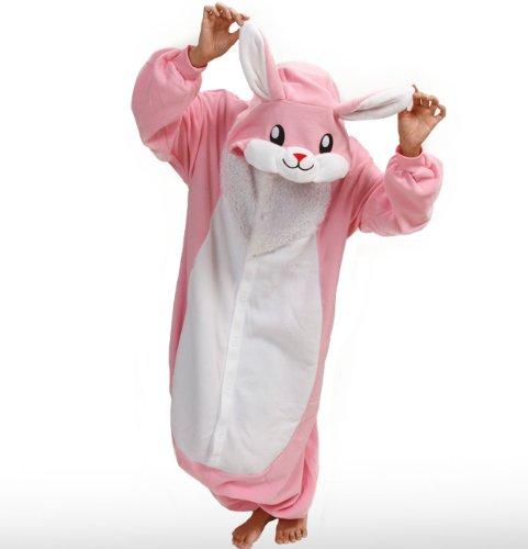 Pink Rabbit Japanese Kigurumi Sazac Cosplay Costume Pajamas front-485777