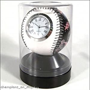 Official MLB Rawlings Chicago White Socks Baseball Quartz Clock by MLB & Rawlings