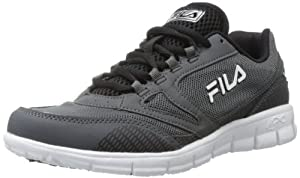 Fila Men's Memory Deluxe 3 Running Shoe,Castlerock/Black/White,11.5 M US