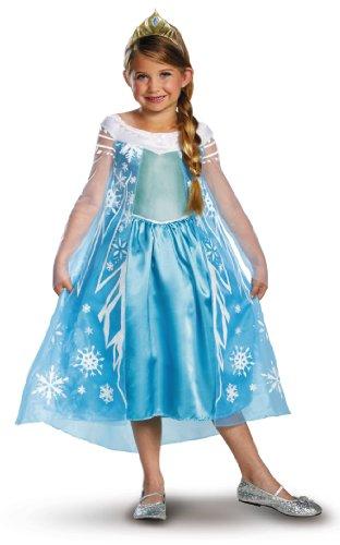 Disguise Disney's Frozen Elsa Deluxe Girl's Costume, 7-8