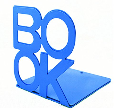 Fasmov Cute Book Nonskid Bookends Art Bookend,1Pair (Blue)