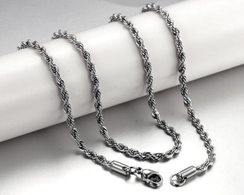 OPK-New Fashion Jewelry Titanium 316L Stainless steel Hemp rope Chain Single Chain Best Gift