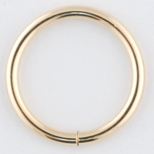 One 14K Gold Continuous Ring: 16g 7/16