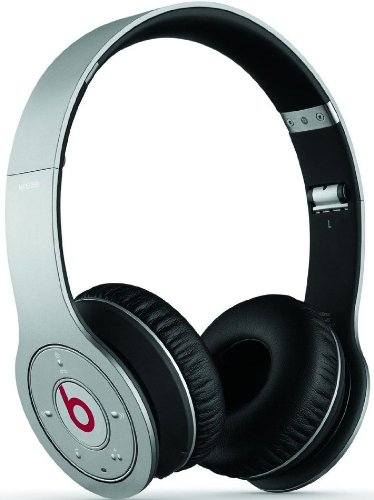 Beats By Dr. Dre Wireless Bluetooth On-Ear Headphones (Silver) Bundle With Beats Cable With Microphone And Custom Designed Zorro Sounds Cleaning Cloth