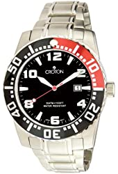 Croton CA301048SSRD Men's Stainless Steel Black Dial Dive Watch