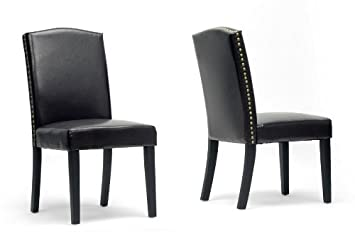 Trullinger Dark Brown Modern Dining Chair with Chanasya Polish Cloth Bundle (Set of Two)