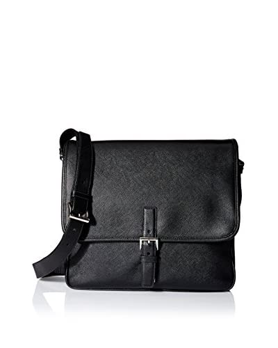 Prada Men's Saffiano Leather Messenger Bag, Black