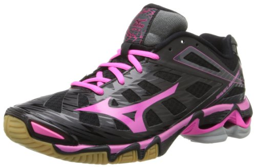 Mizuno Women's Wave Lightning RX3 Volley Ball Shoe,Black/Pink,8 M US