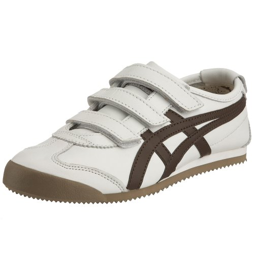 Onitsuka Tiger Unisex Mexico 66 Baja Trainer White/Brown HL4A10161 7 UK