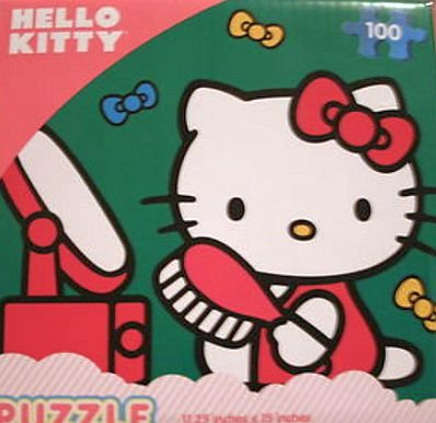 Hello Kitty 100 Piece Puzzle - Vanity Mirror and Hairbrush