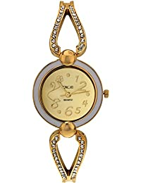 "DICE ""Venus-7156"" Fashionable, Elegant, Contemporary, Tasteful Wrist Watch For Women. Fitted With Gold Plated, Jewel Stone, Attractive Multi Dial Watch."