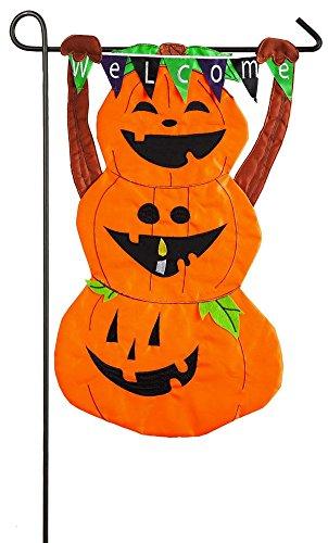 Pumpkin Totem Garden Flag