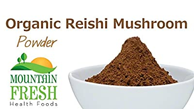 Organic Reishi Mushroom Powder - Superfood Supplement 100g FREE UK Delivery by MountainFresh