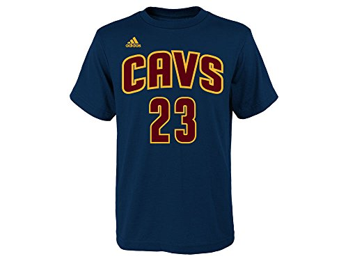 Lebron James Youth Cleveland Cavaliers Navy Name and Number Jersey T-shirt Medium 10-12 (Cavaliers Merchandise compare prices)