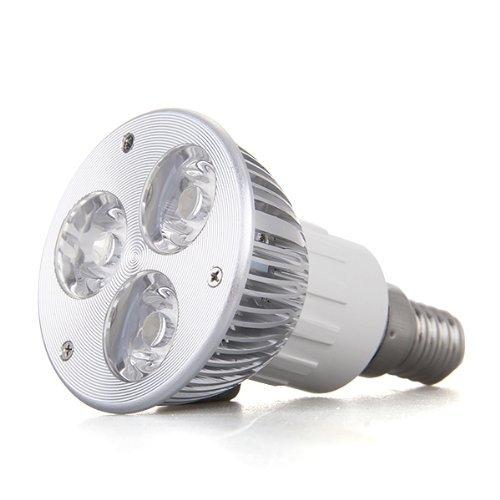 Toogoo(R) E14 3W High Power 3 Led Spotlight Spot Light Bulb Lamp Warm White
