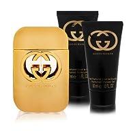 Gucci Guilty 3 Piece Gift Set for Women (Eau de Toilette Spray Plus Body Lotion Plus Shower Gel)