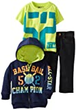 Nannette Boys 2-7 3 Piece Baseball Champion Denim Pant Set