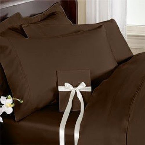 Srp Linen 500-Thread-Count Super Soft Zipper Closure Designer 1-Piece Luxury Duvet Cover King/Eastern King Solid Chocolate front-1032406
