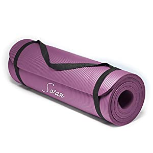 Sivan Health and Fitness® 1/2-InchExtra Thick 71-Inch Long NBR Comfort Foam Yoga Mat for Exercise, Yoga, and Pilates Colour: Purple