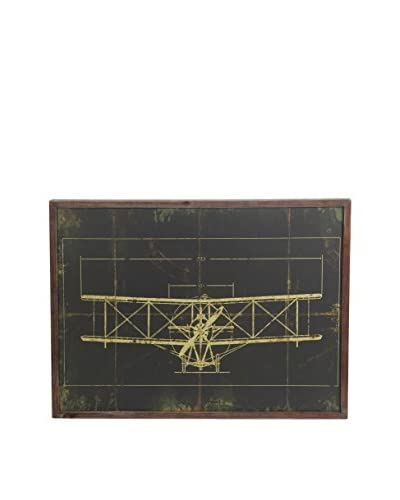 Plane Wall Decorative Accessory, Gray