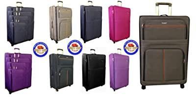 New Super Lightweight Expandable Suitcase Trolley Cases Bag 4 Wheel Luggage Bag