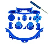 Xbox 360 Dark Blue Full Parts Set (Thumbsticks, D-pad, Buttons, Triggers, Bumpers, Bottom Trim) for your controller (ABXY,Guide,Start, Back)