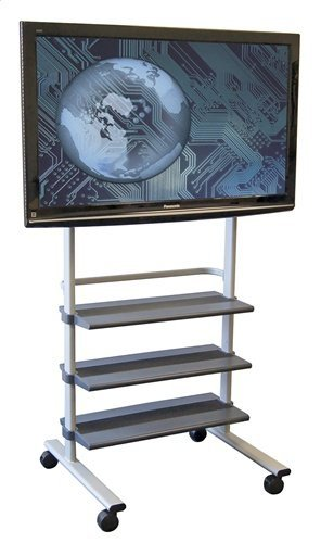 LUXOR Mobile Flat Panel TV Stand - Black