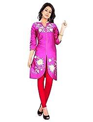 1 Stop Fashion Pink Party Wear Cotton Kurti