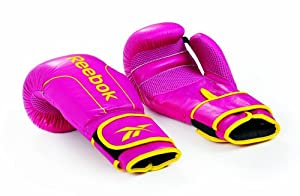 Reebok Leather - Guantes de boxeo, tamaño 0, 24 l, color rosa