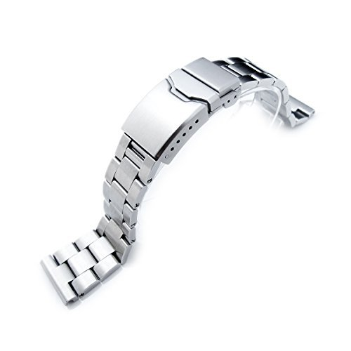 19mm-Super-Oyster-Watch-Bracelet-Straight-End-Lug-Chamfer-Clasp-with-Button
