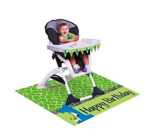 Creative Converting Wild At One Zebra High Chair Party Kit